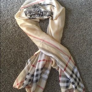Authentic BURBERRY Oblong Silk Scarf